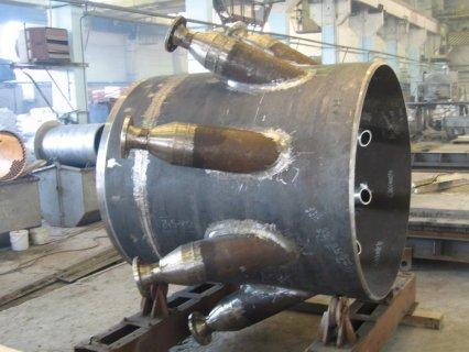 Участок прямоточного реактора
